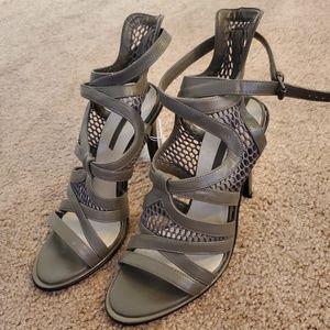 Zara Mesh Leather Heels